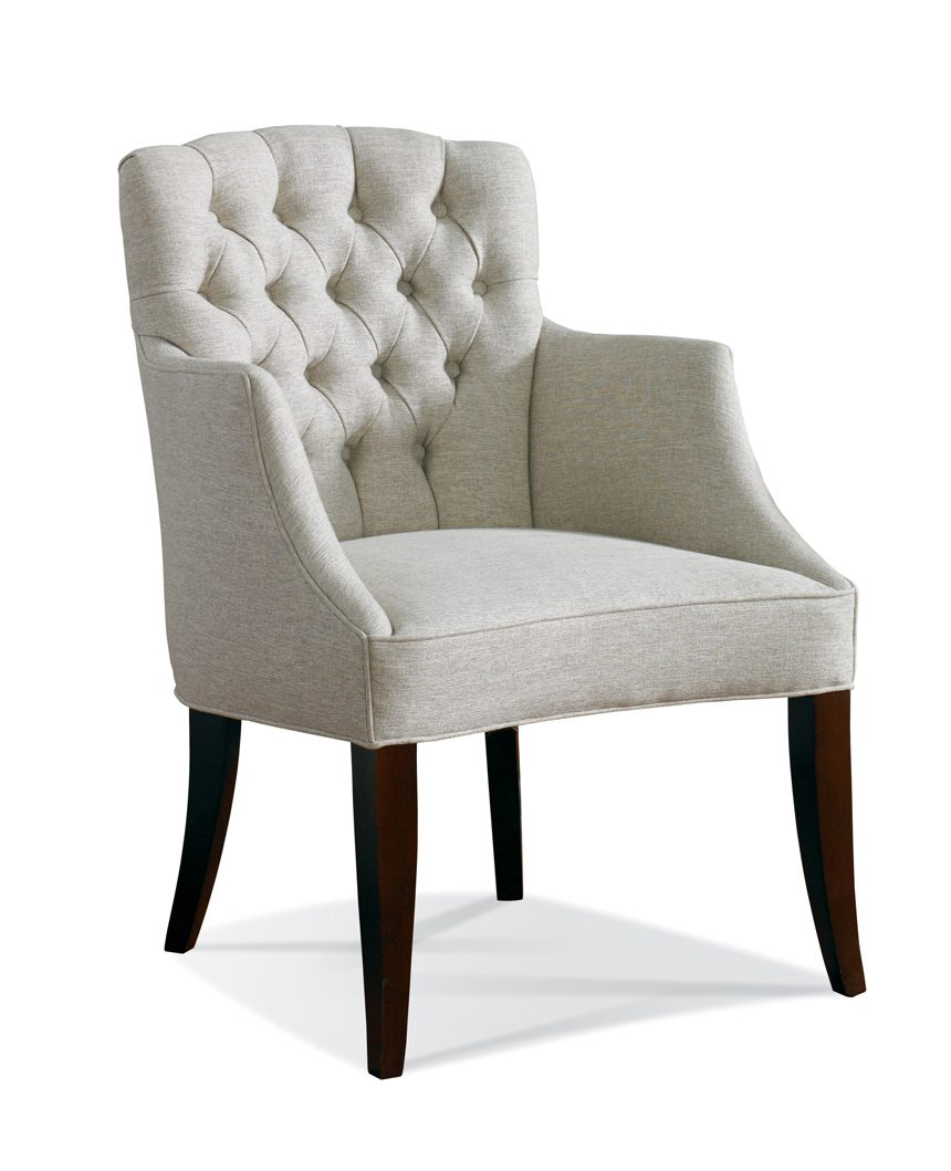 Tufted Accent Chair, Tan Accent Chair